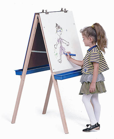 Adjustable Easel with Write & Wipe Boards