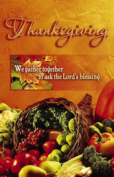We Gather Together Thanksgiving Bulletin Regular (Package of 100)