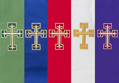 Contemporary Double Overlay Cross Stole
