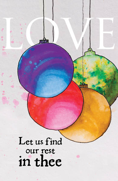 Love Ornament Advent Bulletin (Pkg of 50)