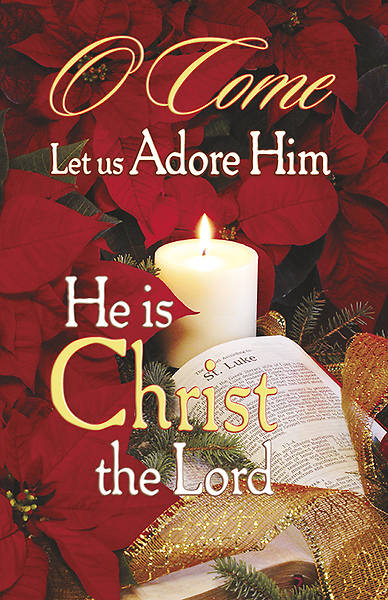 Christmas O Come Let Us Adore Him Bulletin Regular (Package of 100)