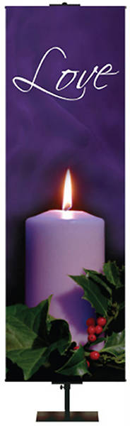"Photo Series Love Purple Advent Banner 18"" x 60"""