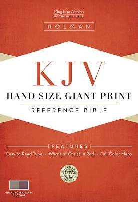 Hand Size Giant Print Reference Bible-KJV