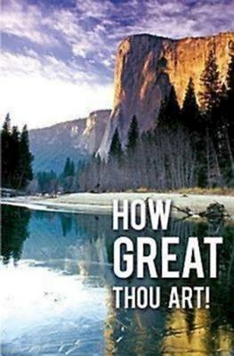 How Great Thou Art Hymn Bulletin, Regular (Package of 50)
