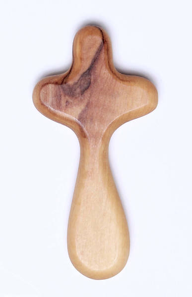 Comfort Olivewood Cross in Plastic Case in Plastic Case