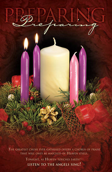Advent Week 2/Preparing  Bulletin, Regular (Package of 100)