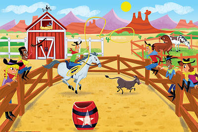 Gospel Light Vacation Bible School 2013 SonWest RoundUp Western Rodeo Wall Mural 3 piece set