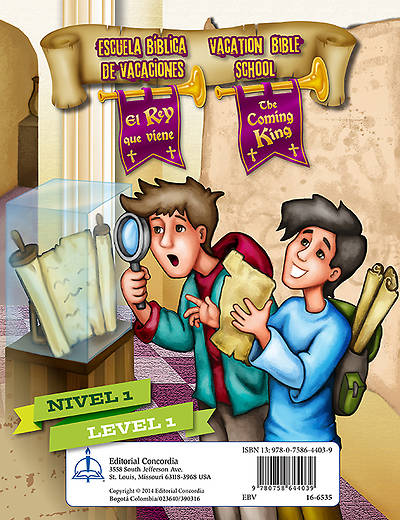 Concordia VBS 2014 El Rey que viene/The Coming King Bilingual Level 1 Student Leaflets (5pk)
