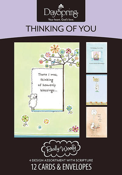 Really Wolly - Thinking of You Boxed Cards - Box of 12