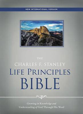 NIV, the Charles F. Stanley Life Principles Bible, Hardcover, Red Letter Edition