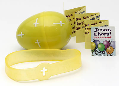 Jesus Lives! Lets Celebrate Egg with Silicone Bracelet
