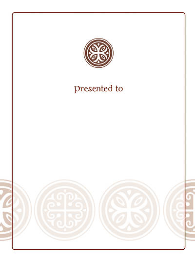 Celtic Cross Bookplate - Presented To [Pack of 15]