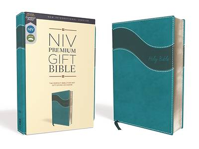 Niv, Premium Gift Bible, Leathersoft, Blue, Red Letter Edition, Comfort Print