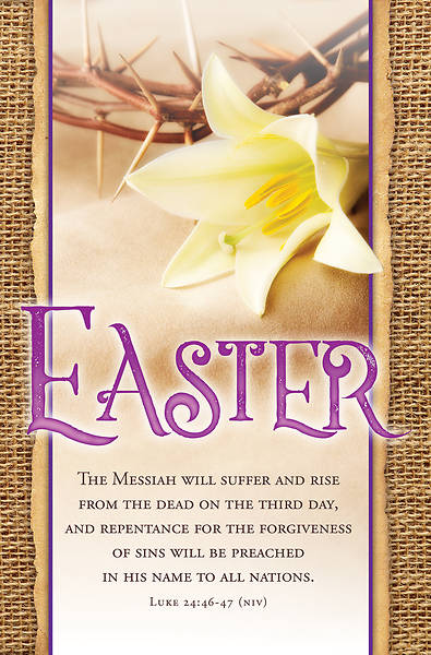 The Messiah Will Suffer Easter Bulletin - Pack of 100