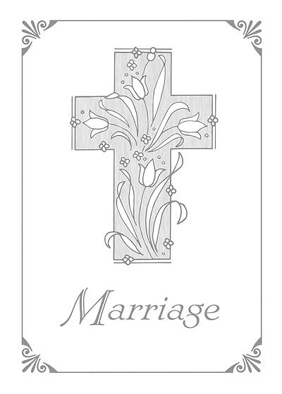 Marriage Certificate with Silver Cross