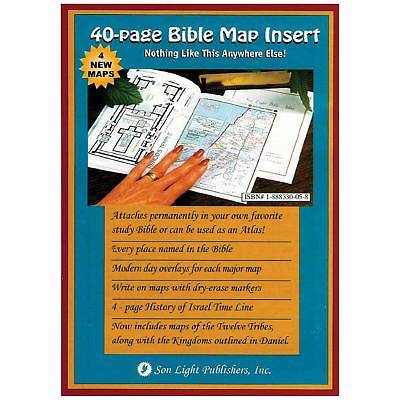 40 Page Bible Map Insert