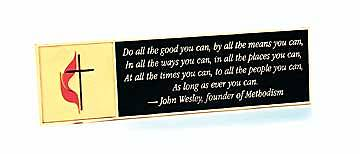 Plaque John Wesley You Can