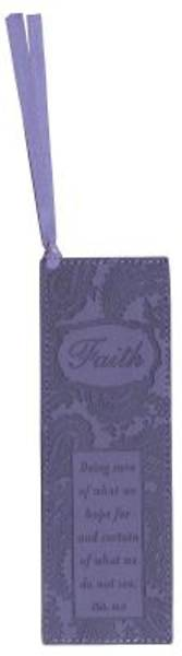 PRUPLE LUXLEATHER FAITH PAGEMARKER