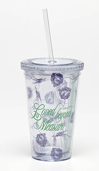 Loved Beyond Measure: Insulated Tumbler with Straw