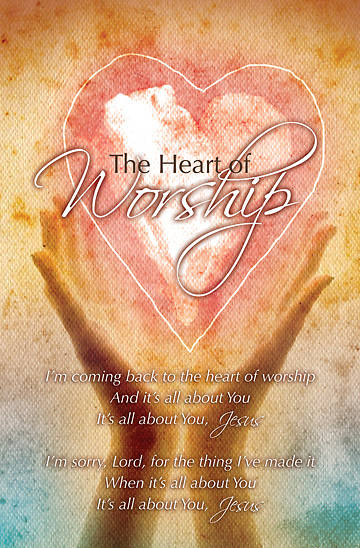 The Heart of Worship Bulletin, Regular (Package of 100)