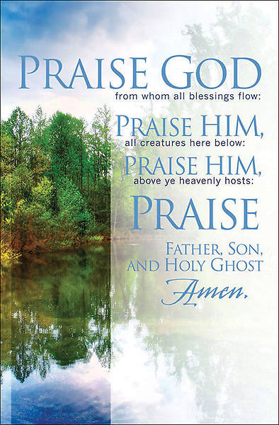 Praise God From Whom Regular Size General Bulletin