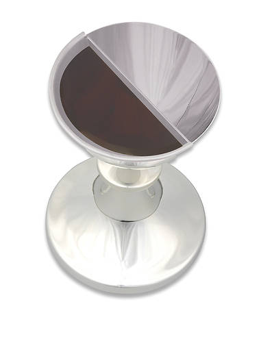 SATIN SILVERPLATE REMOVABLE INNER HALF INTINCTION CUP INSERT