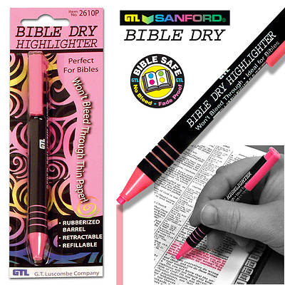 Bible Dry Highlighter - Pink