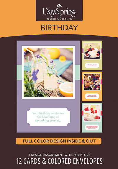 God Made You Unique - Birthday Boxed Cards - Box of 12