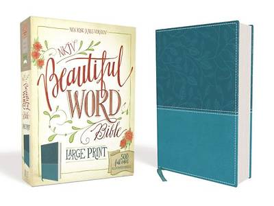 NKJV, Beautiful Word Bible, Large Print, Imitation Leather, Blue, Red Letter Edition