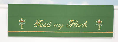 Word Series Green Oridnary Altar Frontal