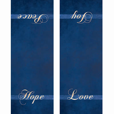Chrismons Advent Pulpit Scarf - Blue