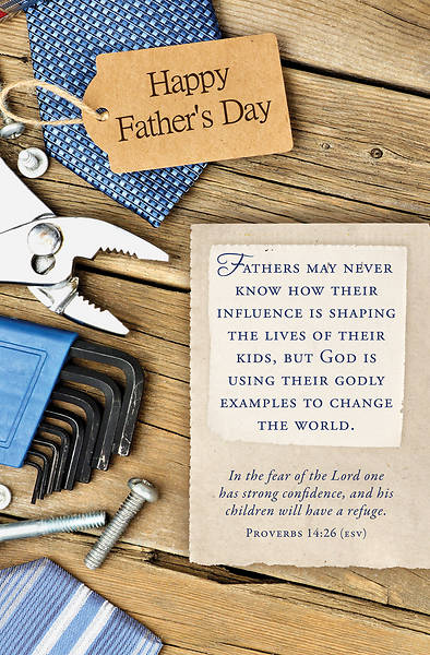 Happy Fathers Day Bulletin - Proverbs 14:26