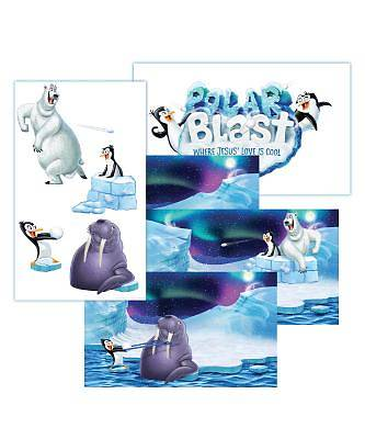 Vacation Bible School (VBS) 2018 Polar Blast Giant Decorating Poster Pack - Set of 5