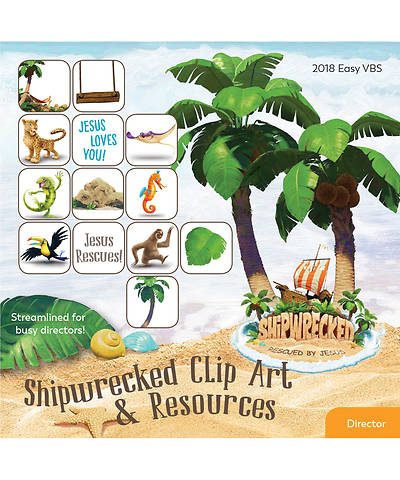 Vacation Bible School (VBS) 2018 Shipwrecked Clip Art & Resources CD