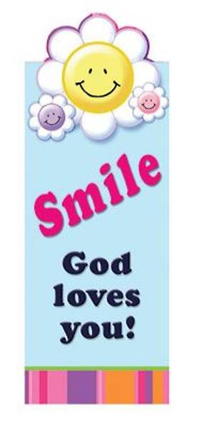 Smile God Loves You Magnetic Bookmark