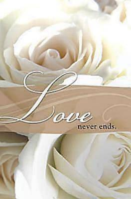 Love Never Ends Wedding Bulletin, Regular (Package of 50)