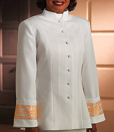 Murphy Qwick-Ship Linette Womens Clergy Jacket H-104 White