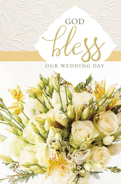 God Bless Our Wedding Day Bulletin - Pack of 100