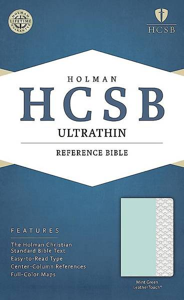 HCSB Ultrathin Reference Bible, Mint Green Leathertouch