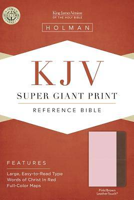 KJV Super Giant Print Reference Bible, Pink/Brown Leathertouch