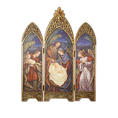 Triple Pane Arch Nativity Scene 36.25