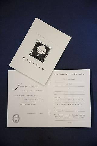 UCC Childrens Baptism Certificate - Pack of 6