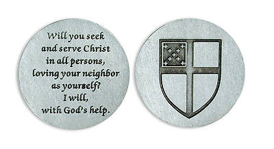 Episcopal Shield Pocket Token