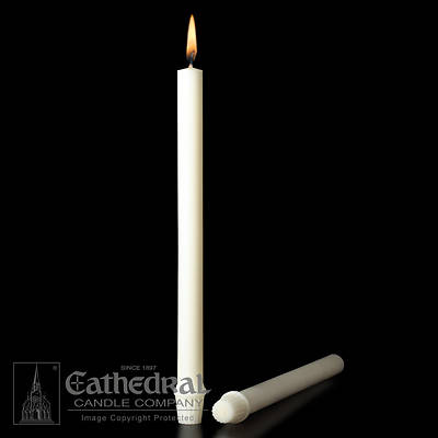 Cathedral 51% Beeswax Altar Candles - 1-1/8