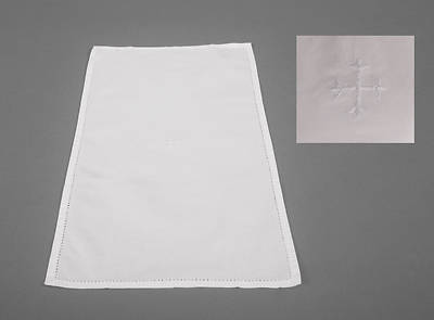 100% Cotton Purificator with White Cross - Pack of 3