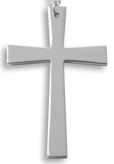 Anodized Aluminum Contemporary Latin Cross