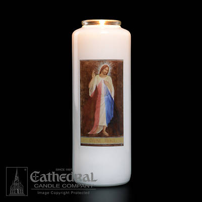 Divine Mercy 6-Day Glass Prayer Candle