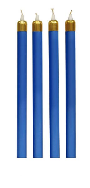 Advent Wreath Tube Candle Set - 4 Blue