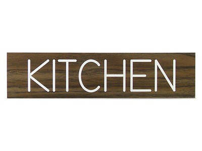 Kitchen Formica Sign 2x8 with Adhesive Back