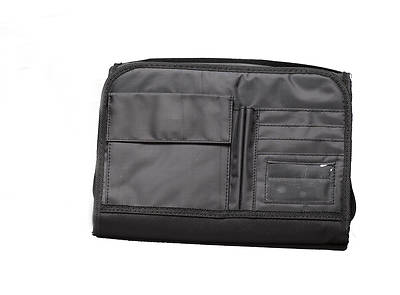 Bible Cover Tri Fold Organizer Black Extra Large